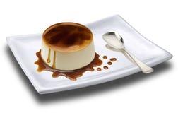 Cream caramel - panna cotta Stock Photos