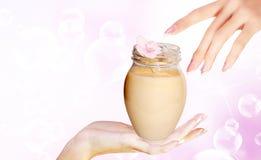 Cream for care face Royalty Free Stock Photos