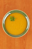 Cream of carrot soup Stock Image