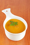 Cream of carrot soup Royalty Free Stock Photos