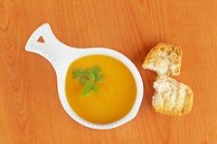 Cream of carrot soup Royalty Free Stock Photos