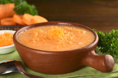 Cream of Carrot Soup Stock Photography
