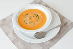 Cream soup stock image