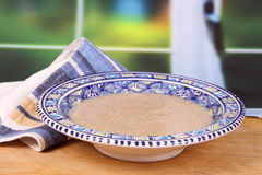 Cream of cauliflower soup Stock Image