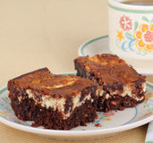 Cream Cheese Brownies Royalty Free Stock Images