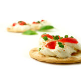 Cream Cheese Canape Royalty Free Stock Photos
