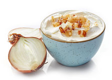 Cream cheese with caramelized onions Stock Photos