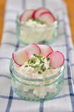 Cream Cheese with Chives Royalty Free Stock Images