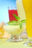 Cream Cheese Dessert Stock Photography
