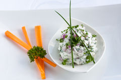 Cream cheese dip Royalty Free Stock Image
