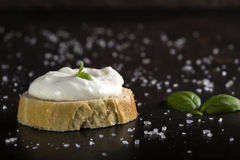 Cream cheese with herbs Stock Image