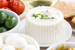 Cream cheese and pickles, close-up Royalty Free Stock Photo