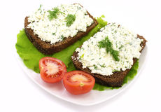 Cream Cheese Sandwich Stock Images