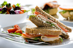 Cream Cheese Sandwiches Royalty Free Stock Image