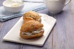 Cream cheese sandwiches Royalty Free Stock Photos