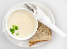 Cream cheese soup. Stock Image