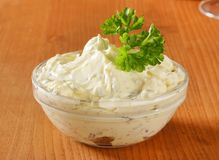 Cream cheese spread Stock Photography