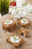 Cream and cheese spread Royalty Free Stock Photos