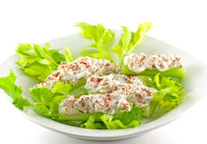 Cream Cheese Stuffed Celery Stock Images