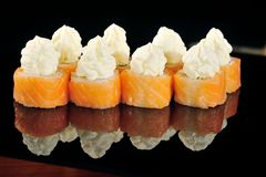 Cream cheese sushi Stock Photo