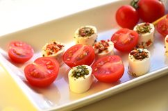 Cream cheese with tomato Royalty Free Stock Image