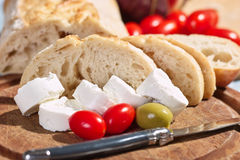Cream cheese with tomatoes Royalty Free Stock Photos
