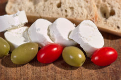 Cream cheese with tomatoes Stock Images