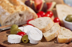 Cream cheese with tomatoes Royalty Free Stock Photo