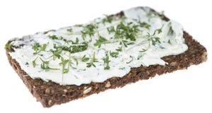 Cream Cheese With Garden Cress (on White) Royalty Free Stock Photo