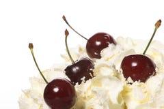 Cream cherries Stock Photography