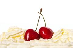 Cream cherries Stock Photo