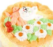Cream cherry cake Royalty Free Stock Photo