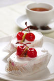 Cream cherry cake Royalty Free Stock Photos