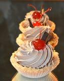 Cream and cherry Royalty Free Stock Photos