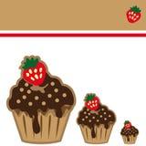 Cream choco cake invitation card Royalty Free Stock Photography