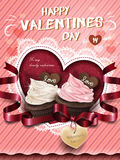 Cream chocolate muffin ad Royalty Free Stock Photo