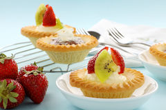 Cream And Chocolate Tarts Royalty Free Stock Image