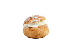 Cream choux. Against a white backdrop stock photos