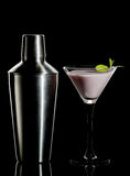 Cream Cocktail And Shaker Stock Images