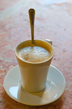 Cream coffee royalty free stock photo