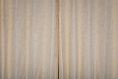 Cream Color Curtain Background/ Backdrop Royalty Free Stock Photography