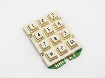 Cream Color Keypad, Spare Part Royalty Free Stock Photo