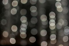 Cream-colored bokeh balls, blurred garland, texture, background, photography is out of focus, copy space, abstract stock images