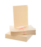Cream colored card blanks Royalty Free Stock Images