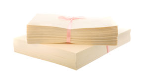 Cream colored card blanks Stock Photo