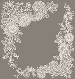 Cream-Colored Lace. Corners. Royalty Free Stock Photo
