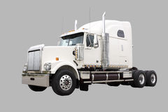 Cream Colored Transport Truck Royalty Free Stock Image