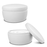 Cream Container. Realistic White Cosmetic Cream Container ready for your design Royalty Free Stock Photo