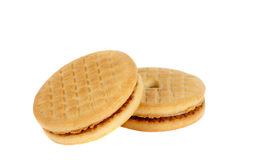 Cream cookies Stock Photography