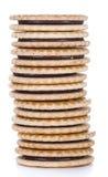 Cream Cookies (isolated on white) Stock Photos